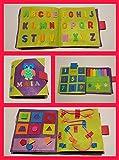 QUIET BOOK - Libro sensorial, Montessori, juguete educativo, hecho a mano, estimulación, desarrollo sensorial, psicomotricidad, creatividad con 4,6 ó 8 actividades. Se personaliza con el nombre.