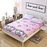 huyiming Coton Monobloc Enfants de Bande dessinée 1.2m Anti-dérapant lit Couverture de Trampoline en Coton 1,5 m 1.8 Mince Couverture de Protection 180X200 + 30