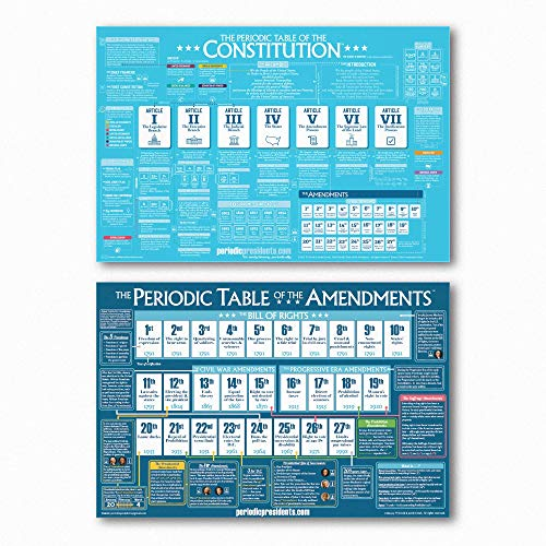 Constitution and Amendment Poster Pack (2 Posters - 24