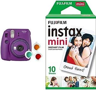 Fujifilm Instax Mini 9 - Cámara instantanea Morado + Pack de 10 películas