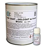 Gelcoat Blanco Gel Coat 1 Kg Barco para Fibra de Vidrio + catalizador