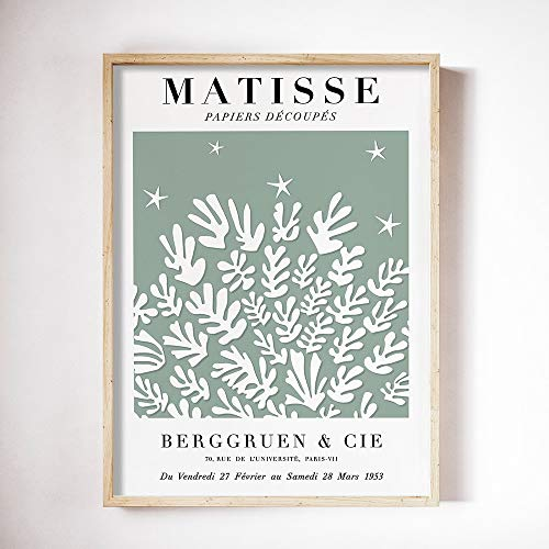 Carteles e impresiones retro de Matisse arte de pared de hoja abstracta imágenes de plantas de color nórdico pintura de lienzo sin marco familiar A5 50x75cm