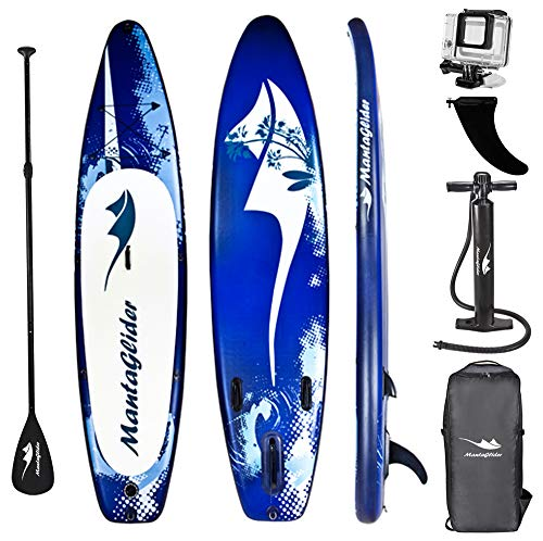 """MataGlider Inflatable 12' Foot SUP Stand Up Paddle Board (6 inches Thick 32"""" inches wide) ISUP with Accessories & Carry Travel Bag, Pump, – Great for Youth and Adults"""