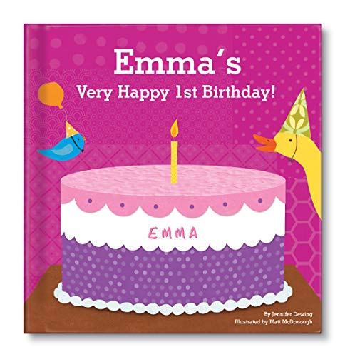 Baby's 1st Birthday for Girls, Happy Birthday Baby, Personalized Book for Toddler
