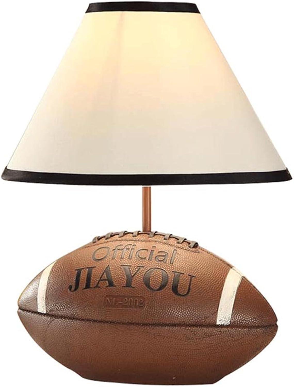 GYH Schreibtischlampen Tischlampe - Creative Mediterranean Fashion Kinder Wohnzimmer Studie Nachttischlampe Tischlampe Rugby Lampe Beleuchtung zu Hause