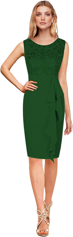 CladiyaDress Women Sheath Knee Length Enening Dress Prom Gown C080LF