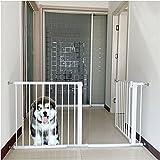 Barrera de Seguridad, Ajustable Reja Protectora, Barrera Escalera para Bebé y Perros, Ideal para Perros o Gatos, en escaleras en Interiores y Exteriores