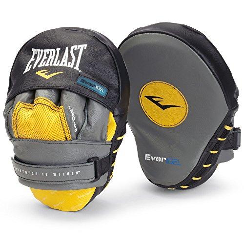 Everlast Evergel Mantis Hook - Almohadillas de golpeo para deportes de combate y contacto, color gris