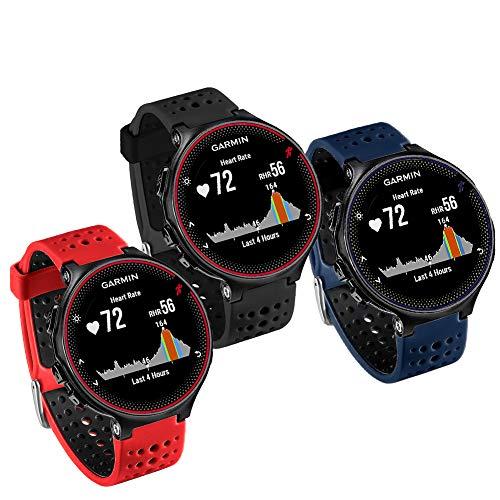 FunBand Cinturino per Garmin Forerunner 235, Morbido Cinturino di Ricambio in Silicone per Garmin Forerunner 235/235 Lite/220/230/620/630/735XT/Approach S20/S5/S6 Smart Watch