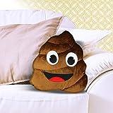 Monsterzeug Kissen Kackhaufen, Emoticon Dekokissen braun, Emoji Kissen Poo, Smiley Poop Kissen, 50 x...