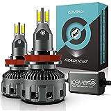 H11 LED Lampadine per Auto, KOYOSO 90W 16000LM LED Fari per Faro Lenticolare, 6500K Bianco 12V