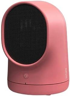 LYzpf Rápido Calentador de Ventilador Mini Pequeña Cerámica Aire Personal Portátil Calefactor Eléctrico Bajo Consumo de Energía para Habitación Oficina Baño,Pink
