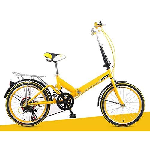 YEDENGPAO Pieghevole Bike, City Bike Adulti Bicicletta Pieghevole 20 Pollici Bicicletta Pieghevole per La Fibra di Carbonio Adulti Bicicletta Pieghevole Leggera Carbonio Bicicletta Pieghevole