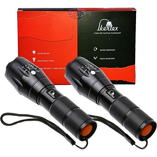 IKERLEX Linterna LED Alta Potencia Linterna de Mano Linternas 2 Pack Antorcha...
