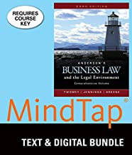 Bundle: Anderson's Business Law and the Legal Environment, Comprehensive Volume, Loose-leaf Version, 23rd + MindTap Business Law, 1 term (6 months) Printed Access Card