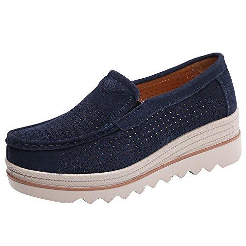 Schuhe Damen Sneaker Höhe Erhöhung Flache Stiefel Freizeitschuhe DOLDOA