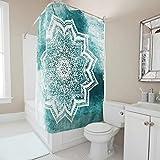 Charzee Duschvorhang Mintish Mandalas Bedruckt Anti-Bakteriell Wasserdichtes Design Shower Curtain 120x200cm Bad Vorhang für Badezimmer Badewanne White 200x200cm