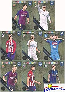 2019 Panini Adrenalyn XL FIFA 365 EXCLUSIVE HUGE EIGHT(8) Card Limited Edition Set! Rare Set Imported from Europe! Including Gareth Bale, Luis Suarez, Ivan Rakitic, Isco, Diego Costa & More! WOWZZER!