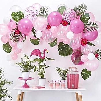 Rosa Intenso Mesa Confeti Decoración Fiesta Hawaiano Tropical Cumpleaños De Verano