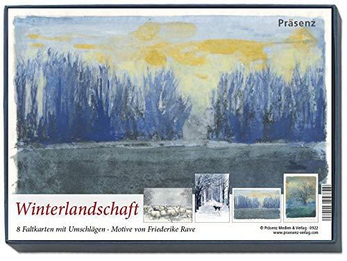 KK-Box Winterlandschaft: 8 Faltkarten mit Umschlägen von Friederike Rave