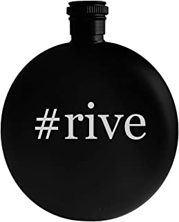 #rive - 5oz Hashtag Round Alcohol Drinking Flask, Black