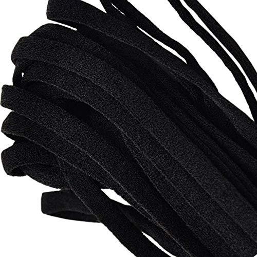 GERUS Black Elastic String for DIY Masks Soft Sewing Elastic Band Cord Rope Straps Knit Stretchy Braided Fabric 1/4 Inch 30YARD ROUND