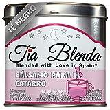 TIA BLENDA - BÁLSAMO PARA EL CATARRO (70 g) - Exquisito TÉ NEGRO Indio Assam BOP Premium con EUCALIPTO. Té en hojas. 40 - 50 tazas. Presentación premium en lata. Loose Tea Caddy.
