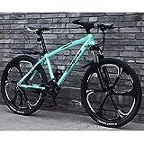 27 Velocidades Bicicletas De Montaña Bicicletas, Marco De Acero Al Carbono Ligero Bicicleta De Montaña Freno De Disco Doble Bicicleta De Carretera para Hombres Y Mujeres Jóvenes, Negro, 26 Pulgadas
