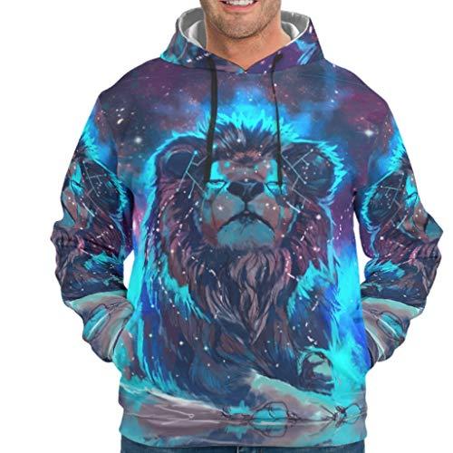 YOUYO Spark Sudadera con capucha para hombre Tiger Lion AnimalVintage - Sudadera con capucha acogedora con capucha color blanco s