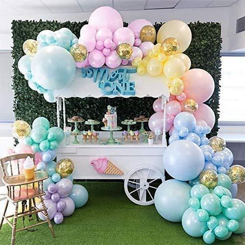 Kit de guirnalda de globos de arco iris, 123 kit de arco de guirnalda de globos de unicornio 5M16ft globos de macaron de largo, utilizados para fiesta de unicornio baby shower
