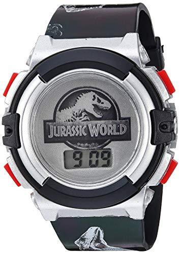 Jurassic Park Analog-Quartz Watch with Plastic Strap, Black, 25 (Model: JRW4004)