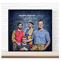 Weitaian イマジンドラゴンズゼロアルバムカバーポスター壁アートキャンバス絵画リビングルームの家の装飾キャンバスに印刷-60X60Cmフレームなし