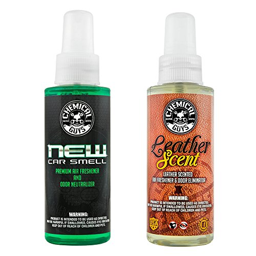 Chemical Guys AIR_300_04 New Car and Leather Scent Sample Kit (4 oz) (2 Items)