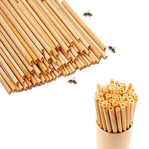 50 pcs Bienenhotel Nisthilfen,Insektenhotel Füllmaterial,Nisthülsen für Wildbienen,Nisthülsen,Schilfrohrhalme,Nisthilfe für Bienen,Pappröhrchen für Insektenhotel