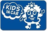 imoninn KIDS in car ステッカー 【マグネットタイプ】 No.65 ハーイさん (青色)