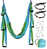 TOYMUM Aerial Yoga Swing - Ultra Strong Antigravity Yoga Hammock/Trapeze/Sling/Inversion Tool for Air Yoga Inversion Exercises - 2 Extensions Straps Included by TOYMUM E-commerce Co., Ltd.