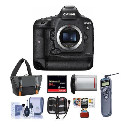 Great Deal! Canon EOS-1DX Mark II Digital SLR Camera - Bundle with 64GB Compact Flash Card, Camera B...