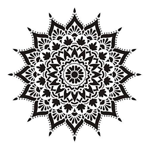 Engao ruime grootte DIY ambachtelijke lagen Mandala sjabloon voor muurschildering Scrapbooking stempelen album decoratieve reliëf papier kaart 3