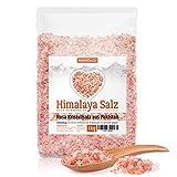 Himalaya Salz, rosa Kristallsalz, 1kg grobes Salz für die Salzmühle, Pink Salt, Badesalz, Salz aus Punjab Pakistan, 2-4mm Körnung