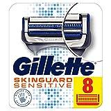 Gillette SkinGuard Sensitive Razor Blades for Men with Precision Trimmer, Pack of 8
