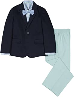 1f31d3b68dcf IZOD Boys' 4-Piece Suit Set with Dress Shirt, Bow Tie, Pants