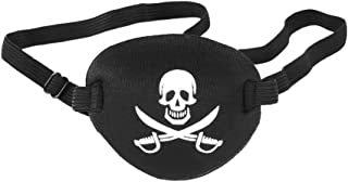 Pirate Eye Patch Skull Crossbone Eye Patch Eye Mask Pirate Accessories for Halloween (Black)