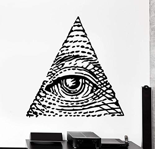 Pegatinas de vinilo para pared Providence Masonic Pyramid Eye Diagram Utensilios de cocina con proverbios Decoración de pared