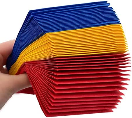 Superhero Napkins 50 Ct Beverage Red Yellow Blue Color Paint Party product image
