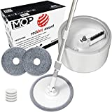 iMop Microfiber Spin Mop with Patented Bucket Water Filtration – Self Wringing Wet Dry All-In-One Spin Mop with Extra Refills – Safe on ALL Floor Types: Hardwood, Marble, Tile, VinyI, and Laminate