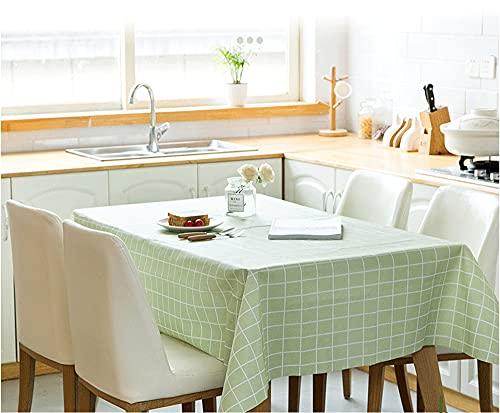 Mantel rectangular de PVC de plástico que se limpia con un paño, impermeable, protector de mesa para cocina, picnic, interior, exterior, fiesta, fiesta infantil (140 x 180 cm)