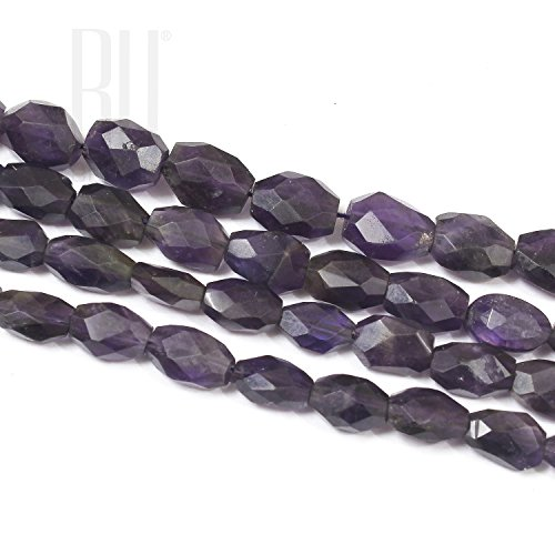Unbekannt Be You lila Farbe natürliche afrikanische Amethyst Edelstein oval Perlen 2 Linie lose 13-Zoll-Strang facettiert