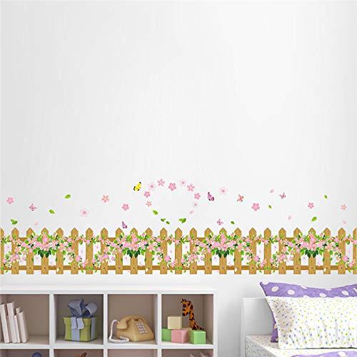 Gartenzaun Herz Blume Schmetterling Wandaufkleber Aufkleber Fenster Glas Wohnzimmer Schlafzimmer Dekoration Kinderzimmer Dekor