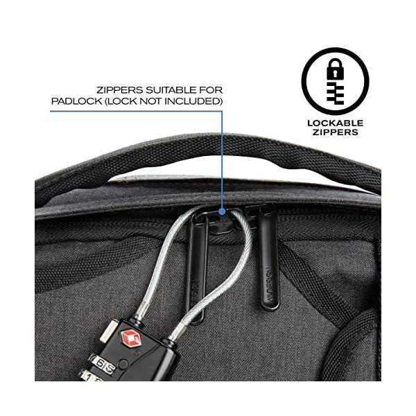 "510uk6vwJ2L. SS600  - XDDesign Swiss Peak 17"" Outdoor Laptop Rucksack, Schwarz - Luggage- Footlocker Unisex"