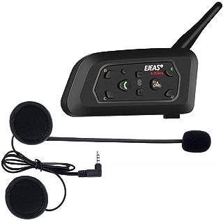 Bluerider 0908B Intercomunicador para Motocicleta Bluetooth 4,1, cancelaci/ón de Ruido CVC, Resistente al Agua, Duplex, Tiempo de conversaci/ón de 10 Horas